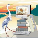 florida library webinars logo - a bird and a computer