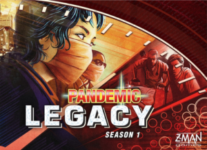 Cover image of the board game Pandemic Legacy (Red edition)