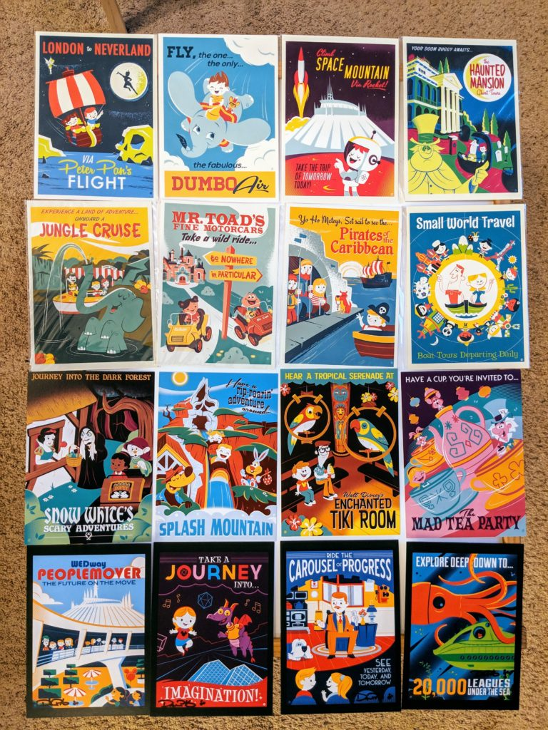 collection of all 16 postcards